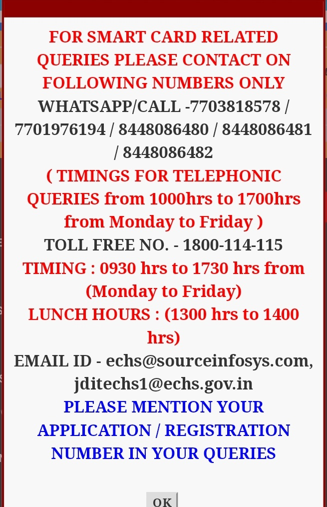 ECHS contact number