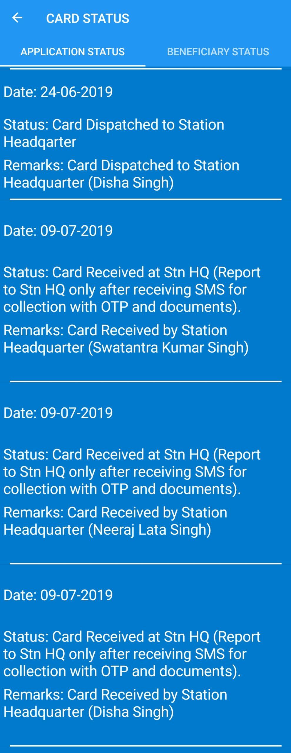 echs card status